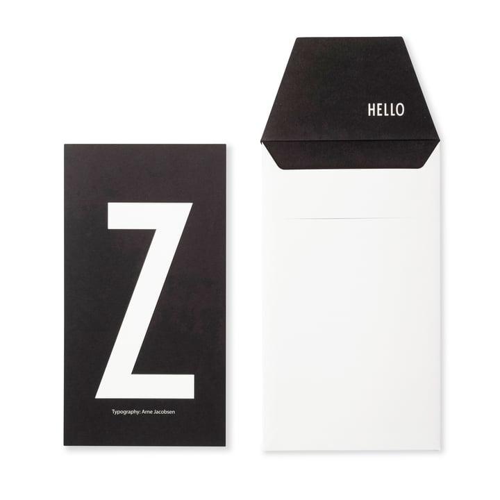 Design Letters - AJ Postkarte Z