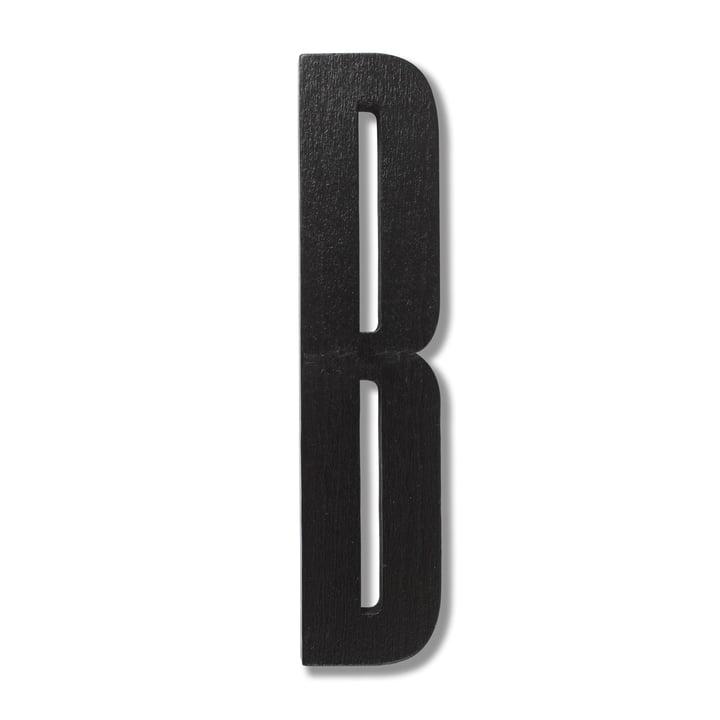 Wooden Letters Indoor B von Design Letters in Schwarz
