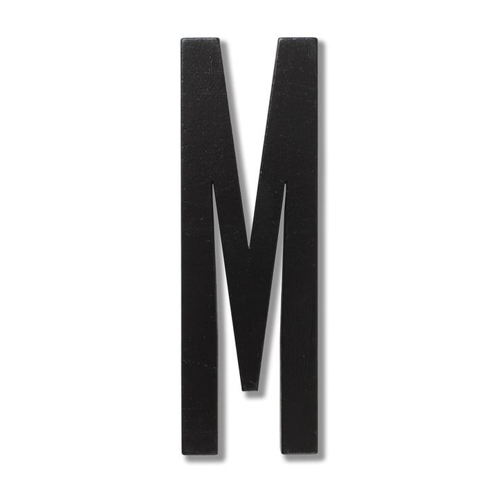 Wooden Letters Indoor M von Design Letters in Schwarz