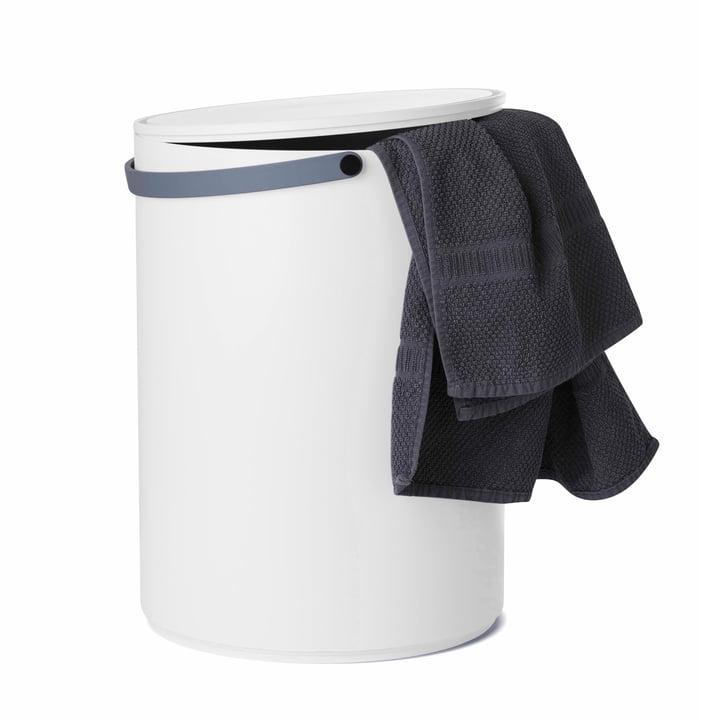 Design Letters - Stool & Storage, grauer Griff und Handtuch