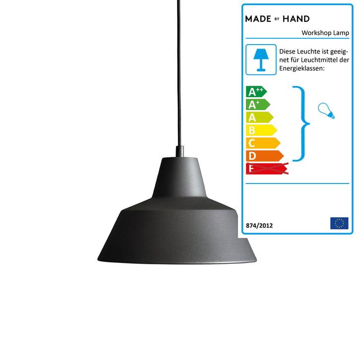 Made by Hand - Workshop Lamp W2 in anthrazitschwarz
