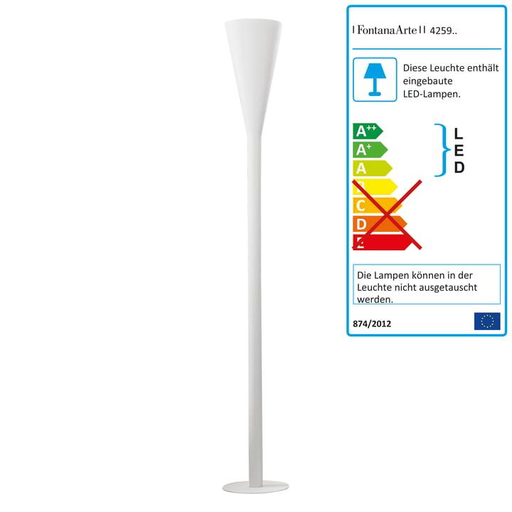 FontanaArte - Riluminator LED Stehleuchte in weiß