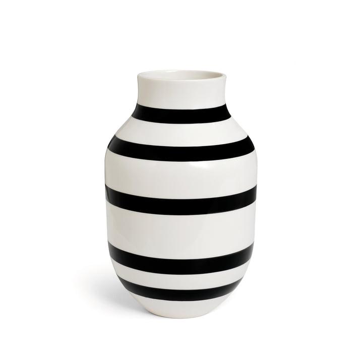 Kähler Design - Omaggio Vase H 305 in Schwarz