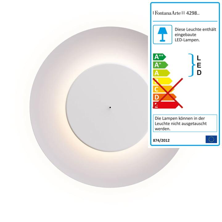 Lunaire LED Wandleuchte von FontanaArte in Weiß