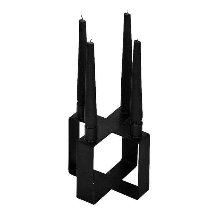 Frame 4 Kerzenhalter Kreuz von Novoform in schwarz
