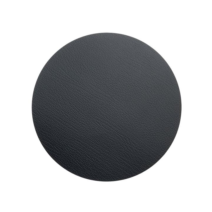 LindDNA - Hot Mat Circle S Tischunterlage Ø 24 cm, Bull schwarz
