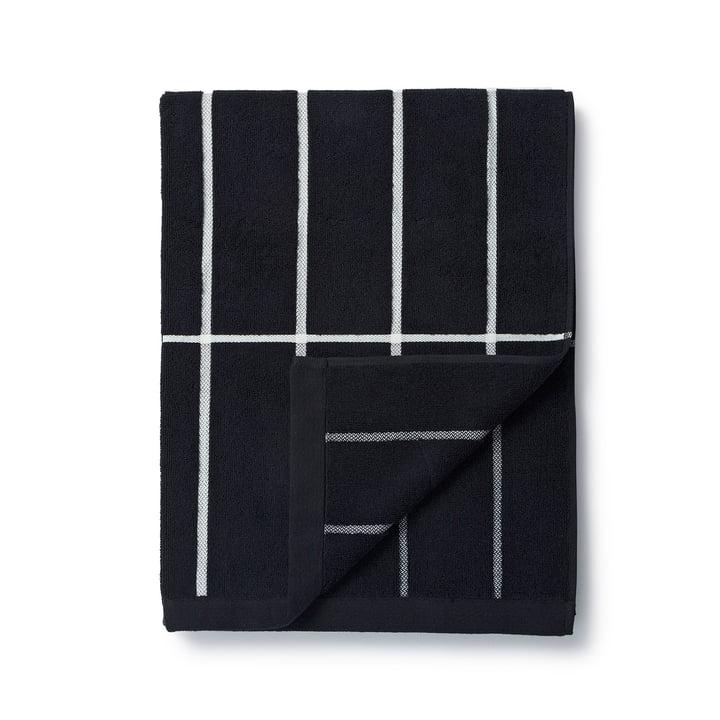 Marimekko - Tiiliskivi Badetuch 75 x 150 cm in Schwarz / Weiß