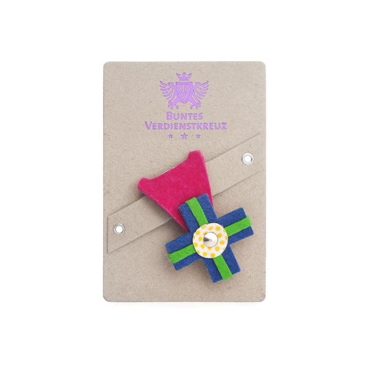 vonbox - Buntes Verdienstkreuz, pink / cyan