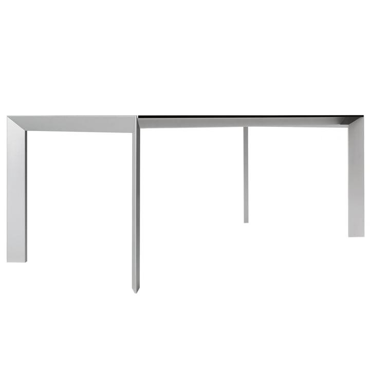 Kristalia - Nori Tisch in Grau/Aluminium