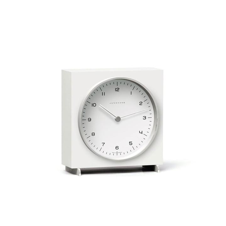 Max Bill Quarz Tischuhr von Junghans in Weiß