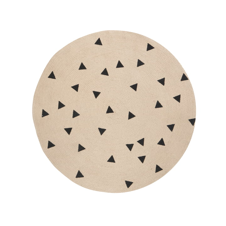 Triangle Jute Carpet Ø 100 cm von ferm Living