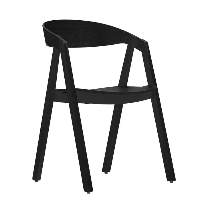 Maigrau - NARDO Stuhl, Esche, schwarz lackiert