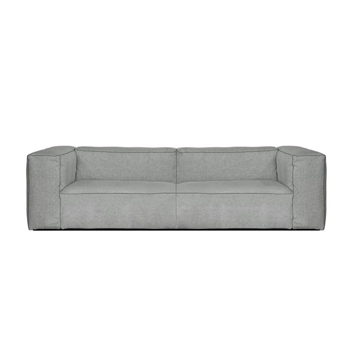 Hay - Mags Soft Sofa 2,5-Sitzer, Kombination 1, hellgrau (Hallingdal 130) / Nähte: dunkelgrau