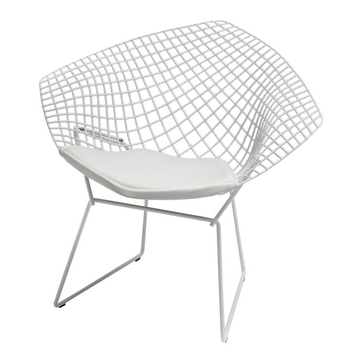 Bertoia Diamond Outdoor-Sessel von Knoll in Weiß