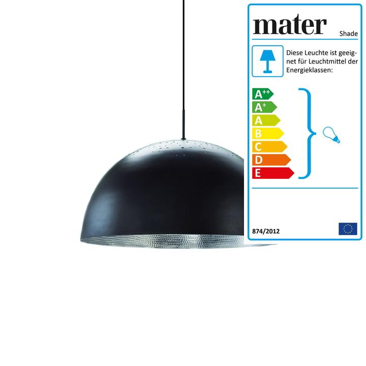Shade Pendelleuchte Ø 40 cm von Mater in Schwarz