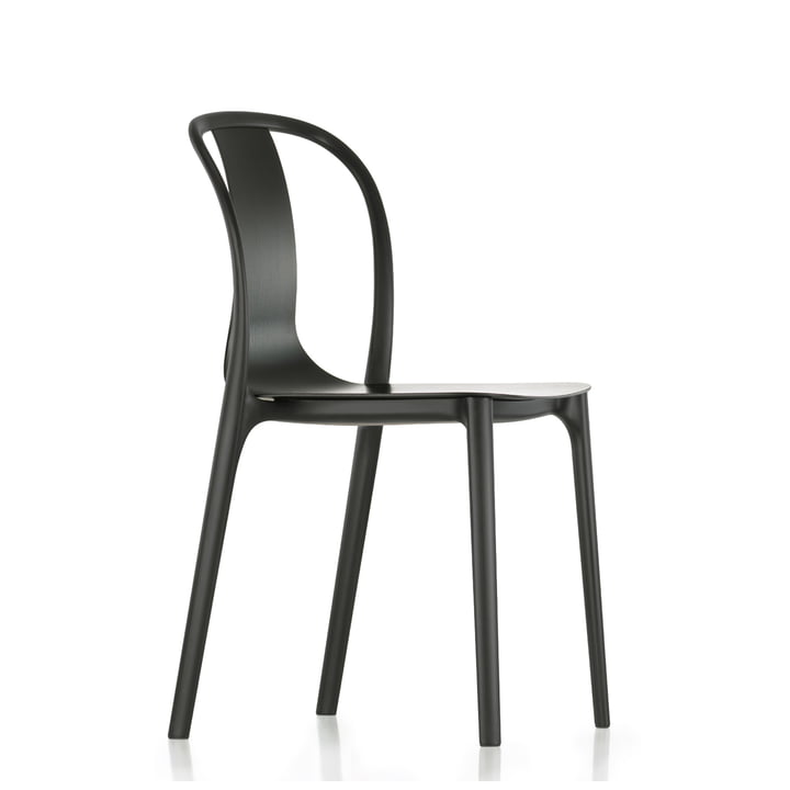 Belleville Chair Wood von Vitra in Eiche Dunkel