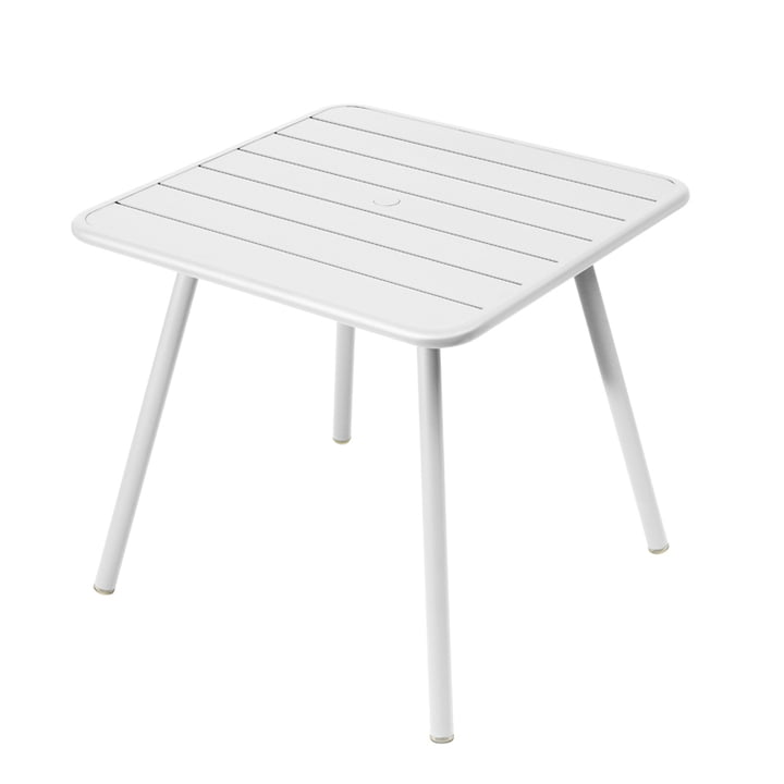 Luxembourg Tisch 80 x 80 cm von Fermob in Baumwollweiß
