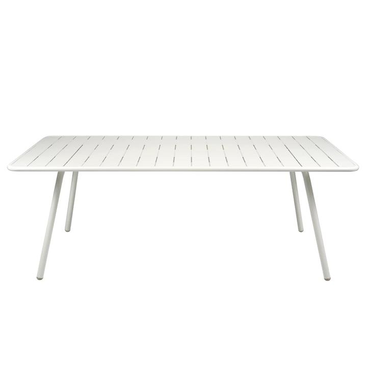 Luxembourg Tisch 100 x 207 von Fermob in Baumwollweiß