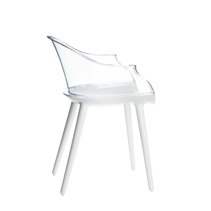 Cyborg Sessel von Magis in Weiß/Klar