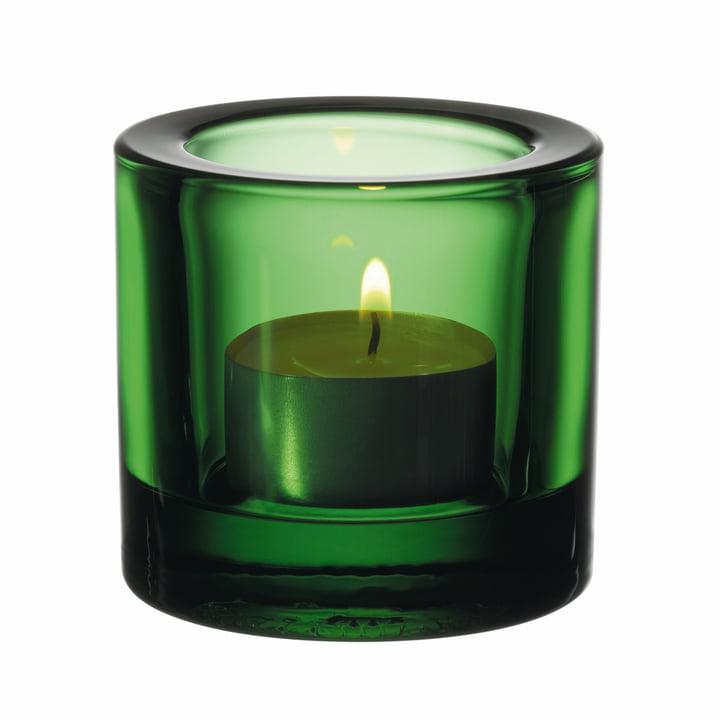 Kivi Teelichthalter von Iittala in smaragdgrün