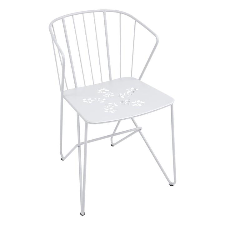 Flower Sessel mit Muster von Fermob in Baumwollweiß