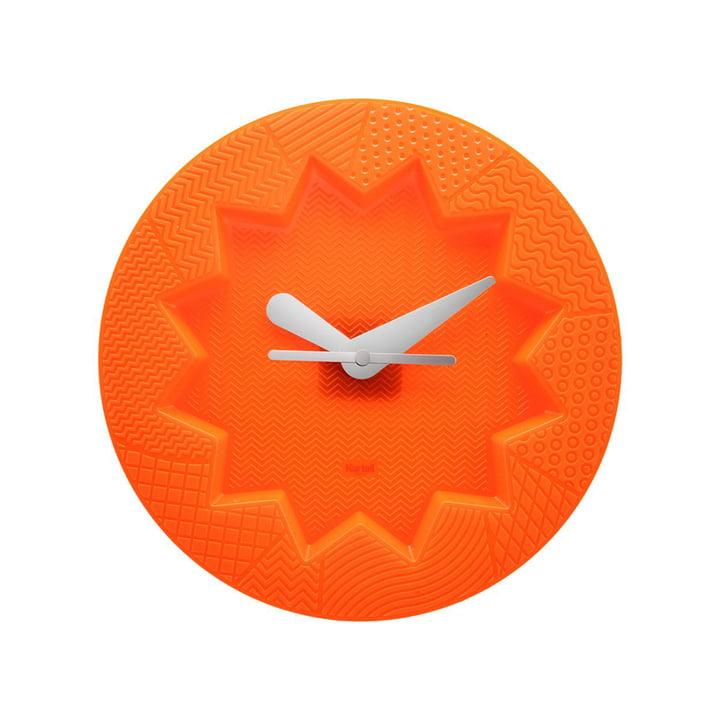 Crystal Palace Wanduhr von Kartell in Orange