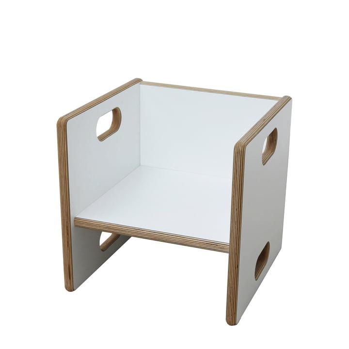 debe.detail Wandelstuhl von De Breuyn in Weiß / Sitzhöhe von 17 cm