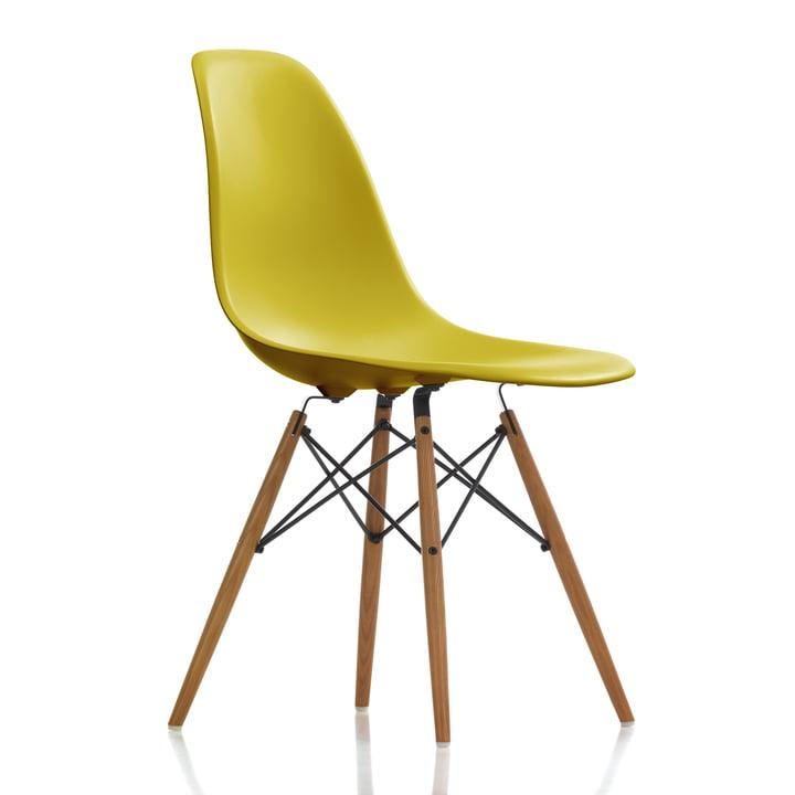Vitra - Eames Plastic Side Chair DSW, Esche honigfarben / senf