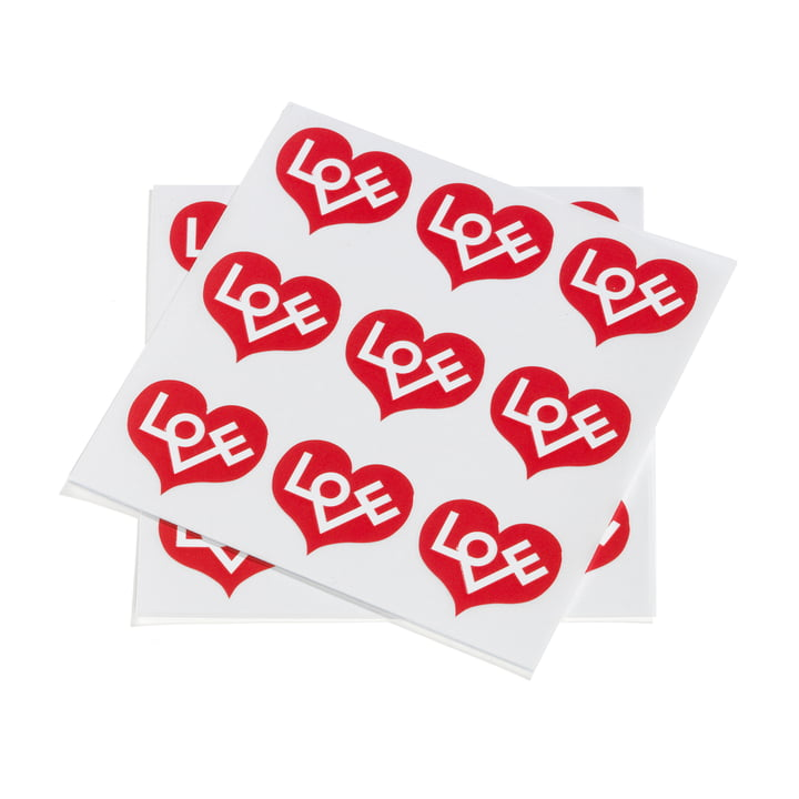 Sticker Love Heart von Vitra in Rot