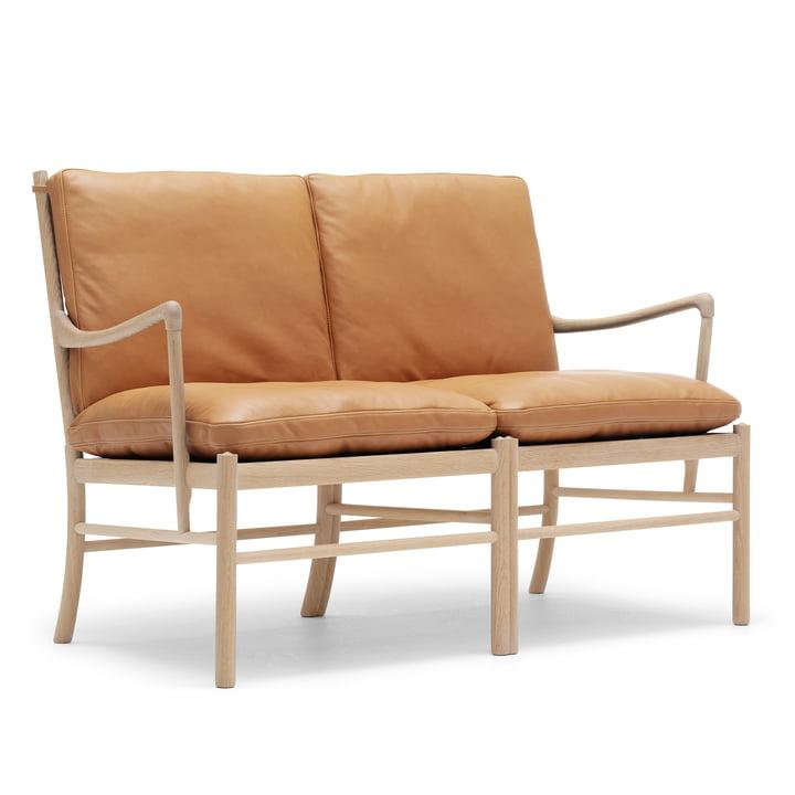 OW149-2 Colonial Sofa von Carl Hansen aus Eiche geölt und Leder SIF 95