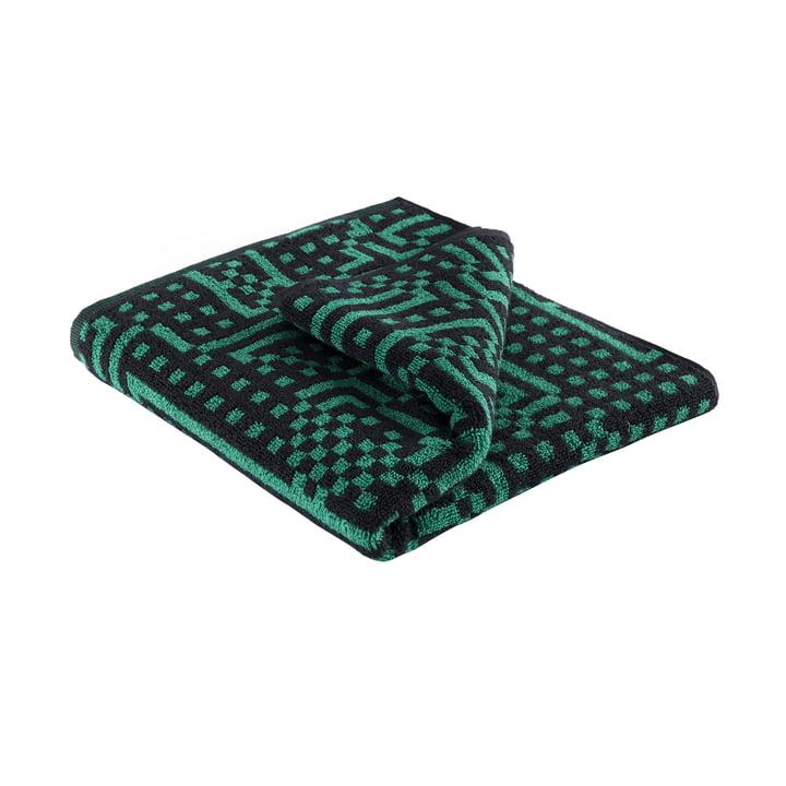 Route Black and Green Handtuch 50 × 100 cm von Zuzunaga