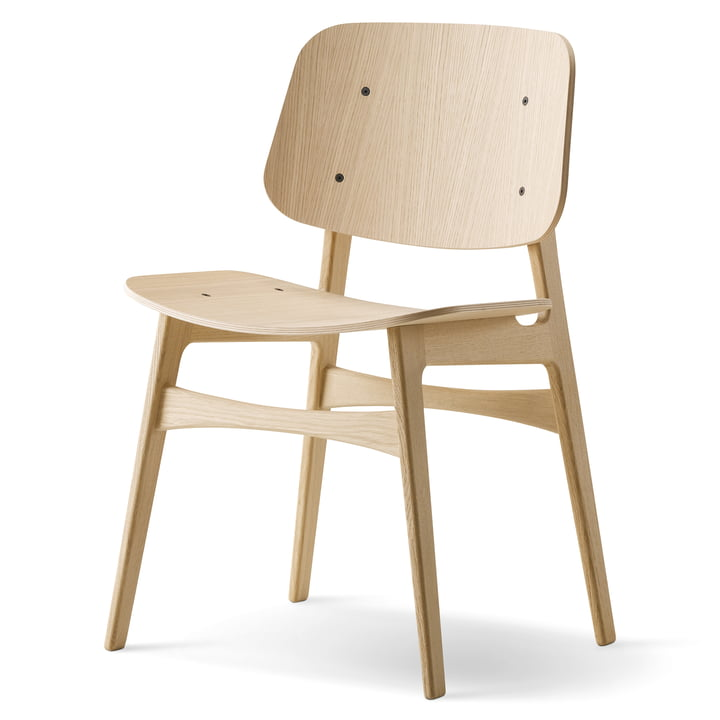 Søborg Stuhl von Fredericia aus Eiche