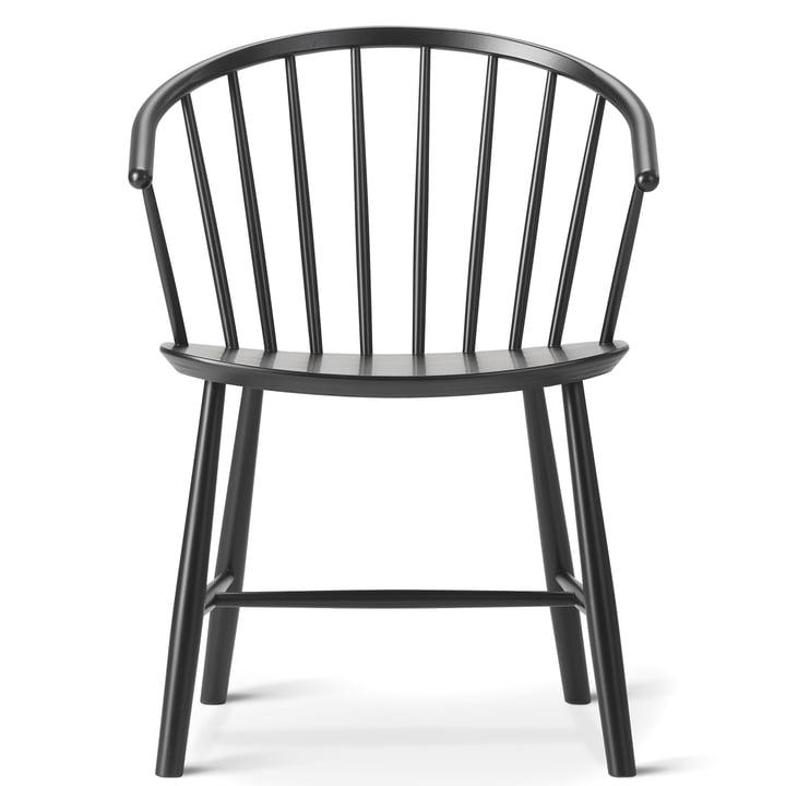 J64 Stuhl von Fredericia in Esche schwarz gebeizt