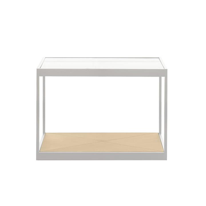 Röshults - Monaco Coffee Table 50 x 50 cm, weiß / Leder sand