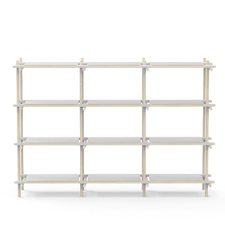 Stick System 3 x 4 von Menu in grau / Esche hell