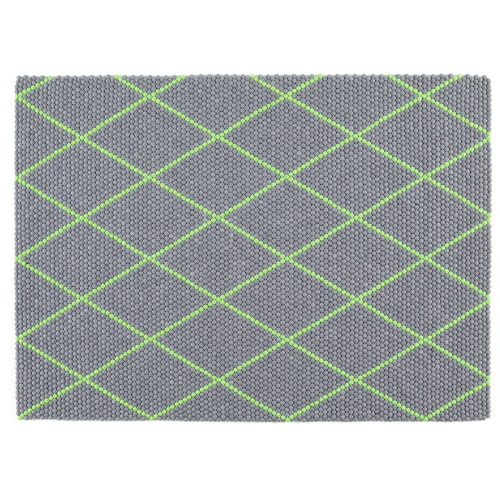 Hay - S&B Dot Carpet, 150 x 200 cm, Electric Green