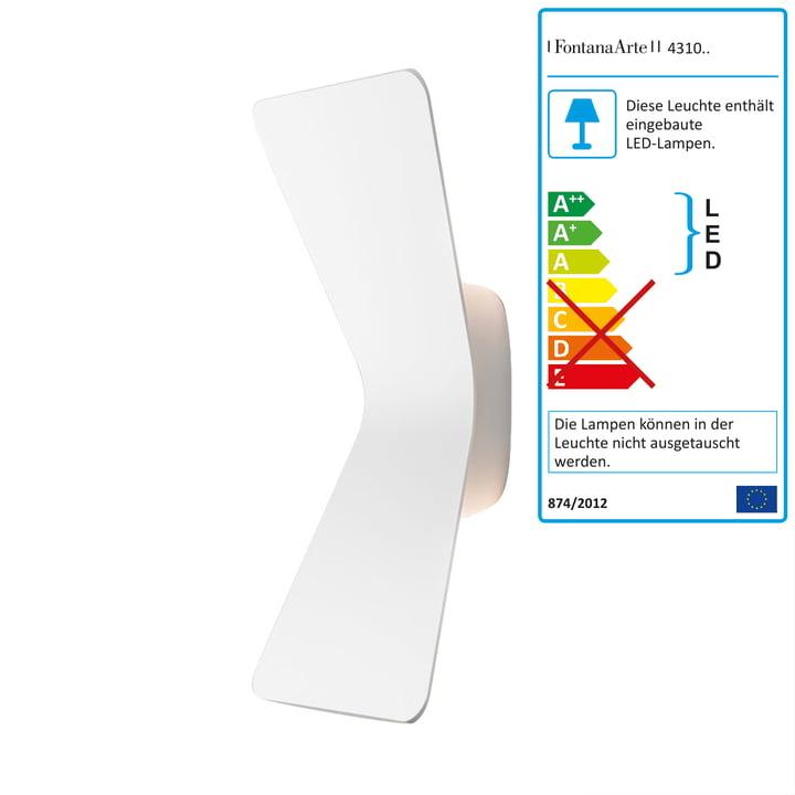 Flex LED-Wandleuchte von FontanaArte in Weiß