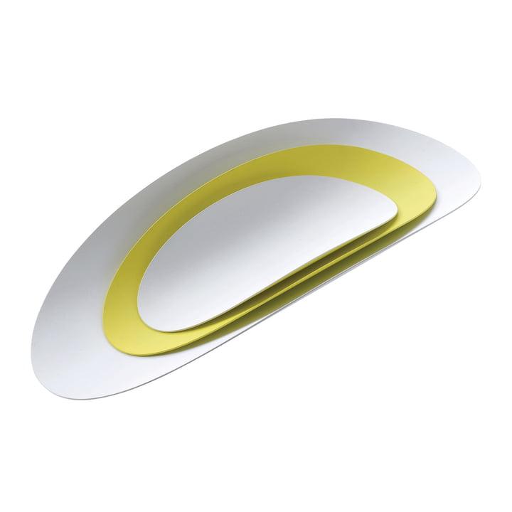 3er-Set Ellipse Schalen von Alessi in Weiß