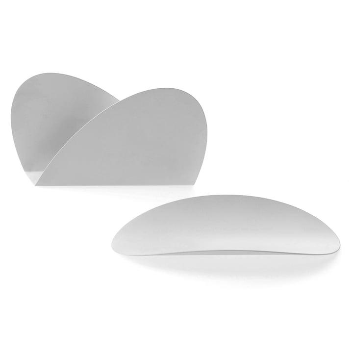 Ellipse Schreibtischset von Alessi in Weiß
