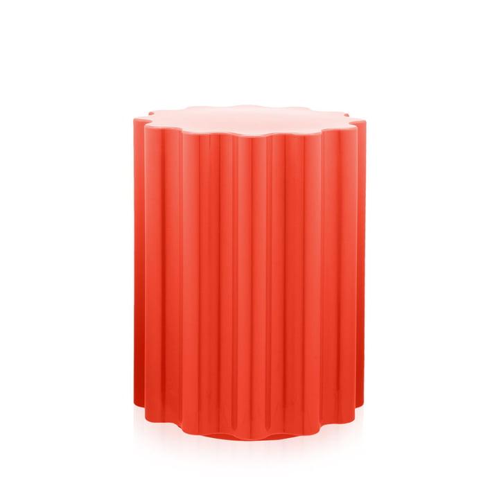 Colonna Hocker/Beistelltisch von Kartell in Rot