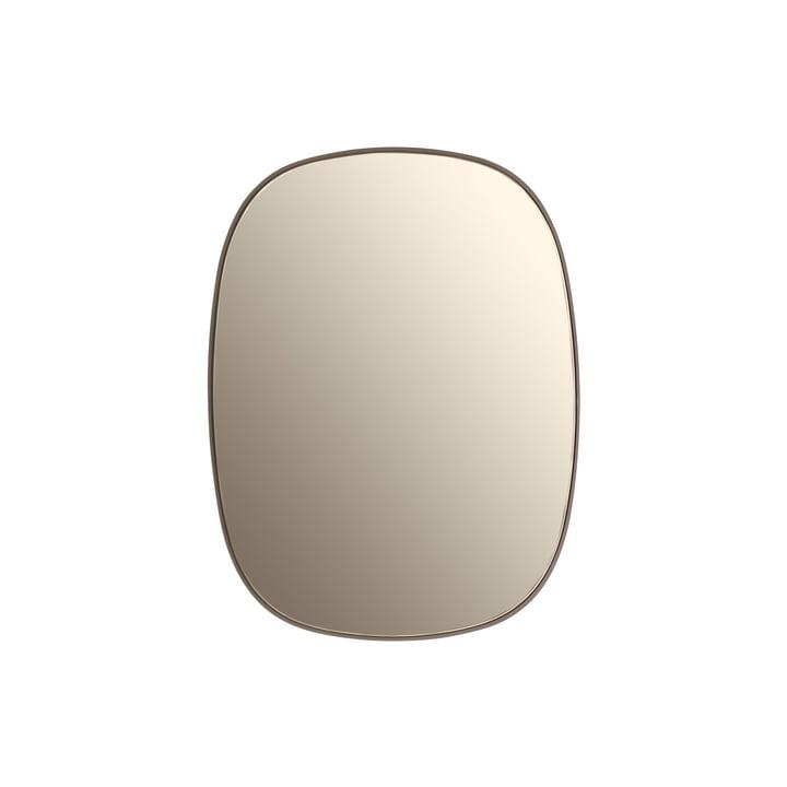 Der Framed Mirror, klein in taupe / taupe Glas