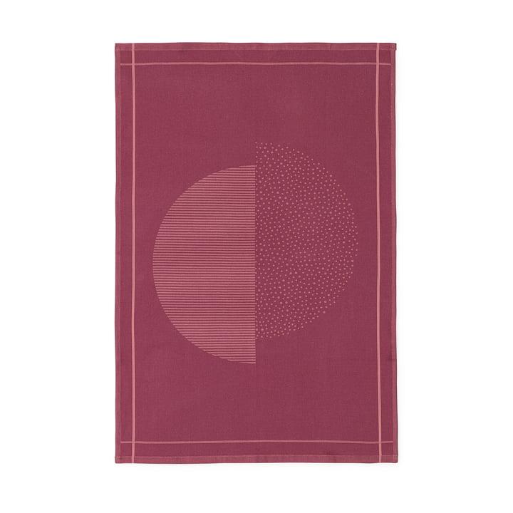 Normann Copenhagen - Illusion Geschirrtuch, burgund