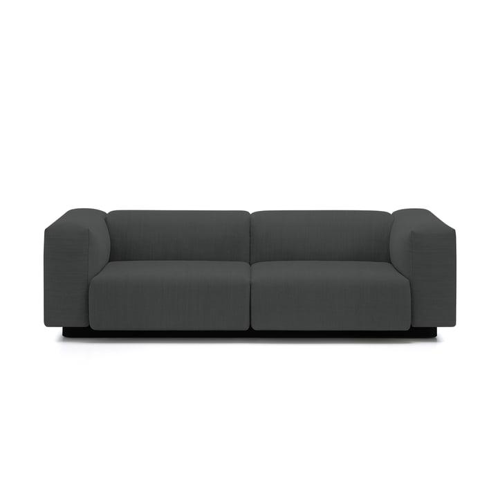 Soft Modular Sofa 2-Sitzer von Vitra in Anthrazit (Laser 03)