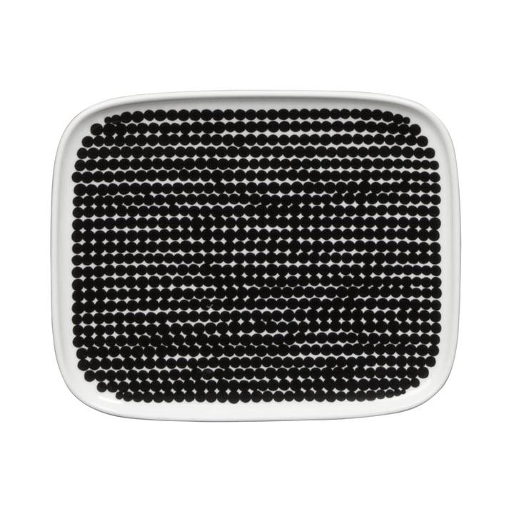 Marimekko - Räsymatto Servierplatte 15 x 12 cm, weiß / schwarz