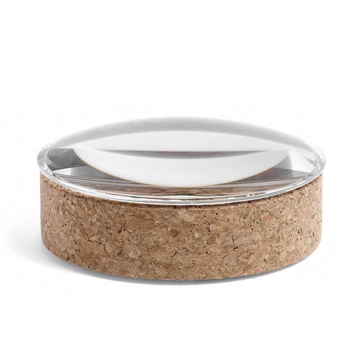 Hay - Lens Box mit Deckel M, stapelbar, Ø 14 cm, Kork / Glas