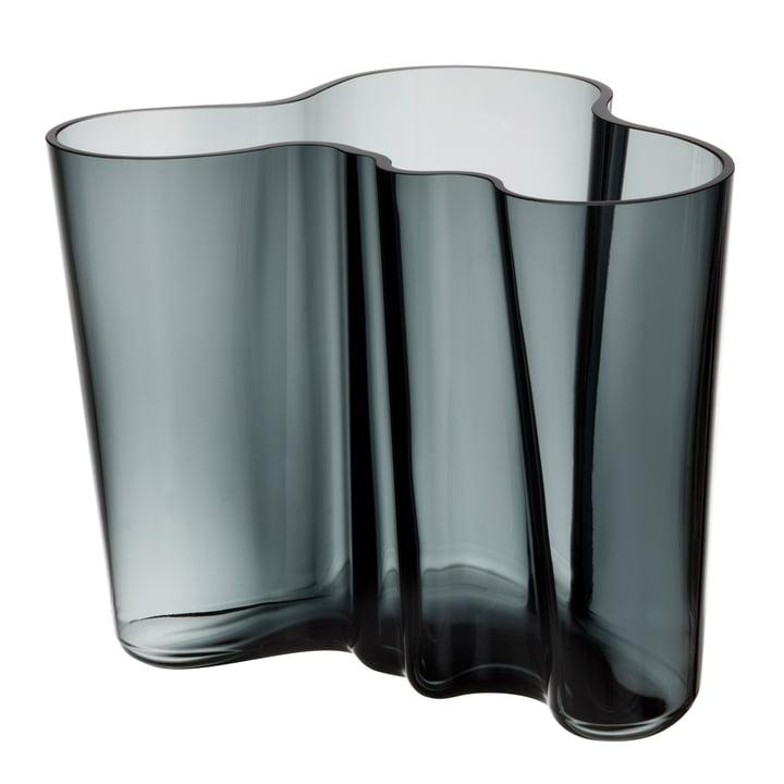 Aalto Vase Savoy 160 mm von Iittala in Dunkelgrau