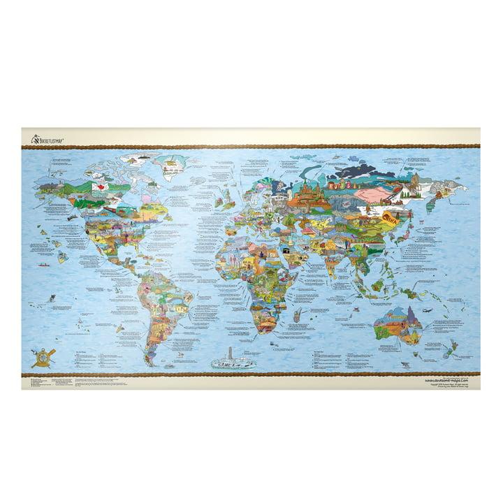 Travelmap/Bucketlist beschreibbar von Awesome Maps auf Englisch