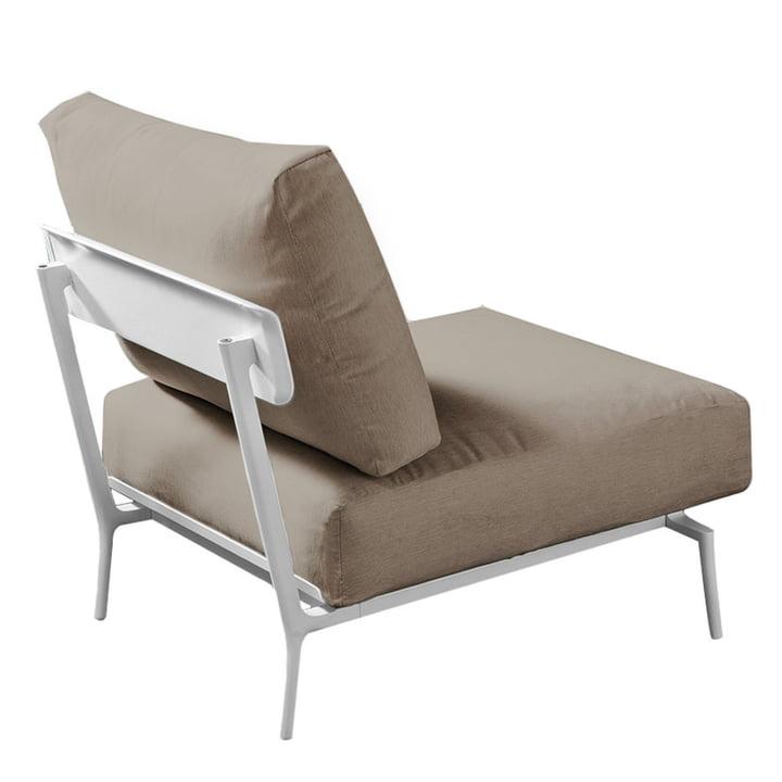 Aikana Sessel ohne Armlehnen, weiß / taupe von Fast