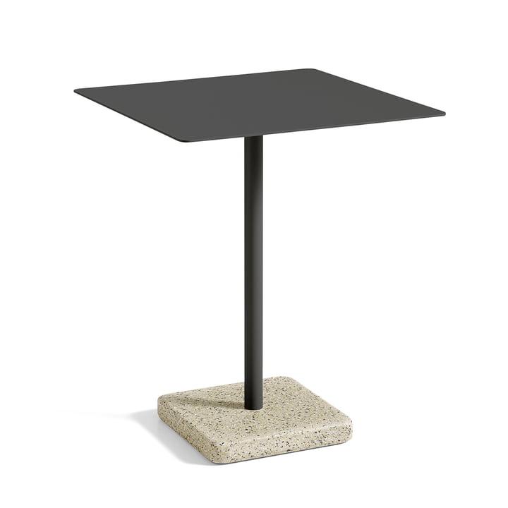 Hay - Terrazzo Tisch quadratisch 75 x 75 cm, schwarz / gelb