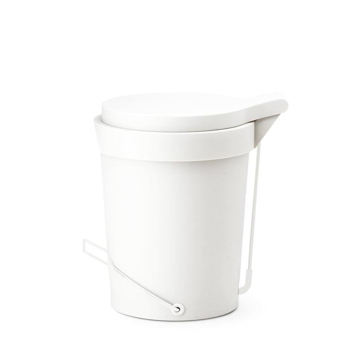 Depot4Design - Tip Treteimer 7 Liter, Ø 22 cm, weiß